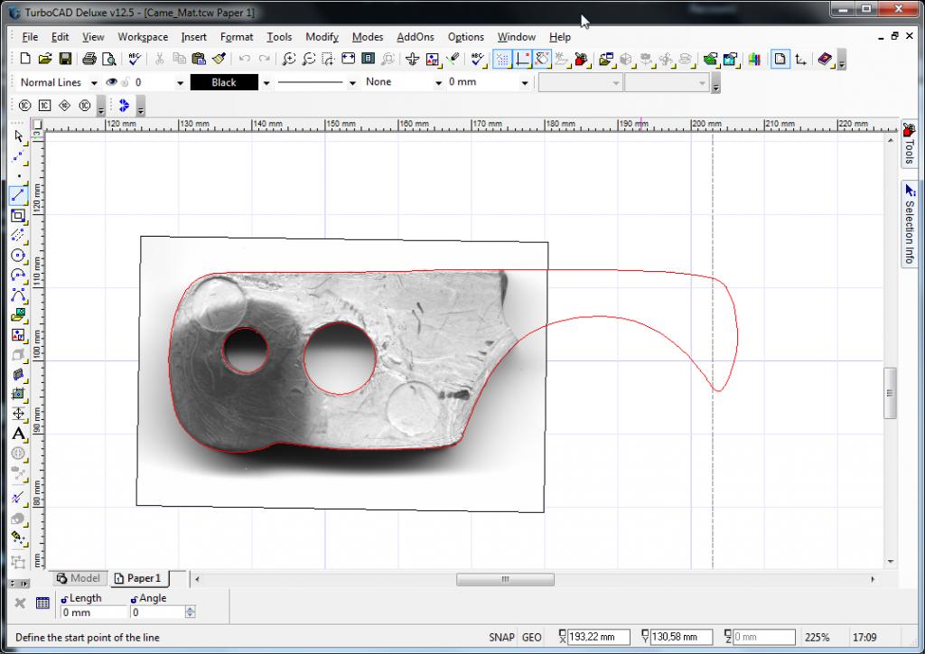 Broken part graphical reconstruction